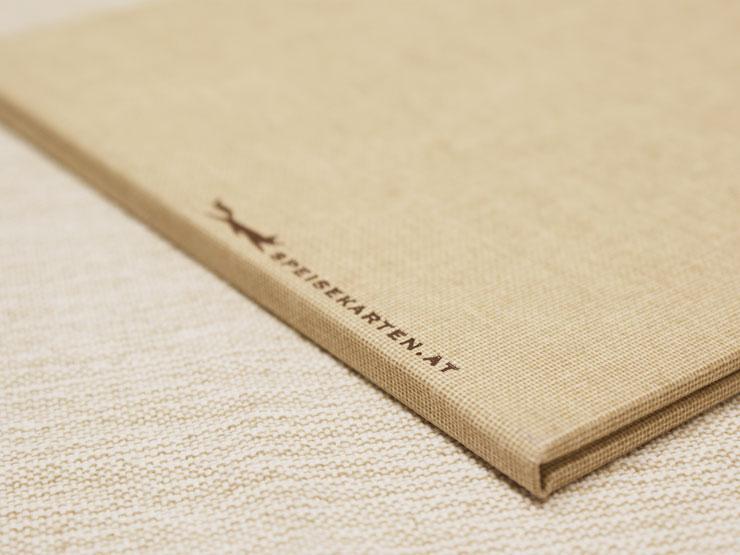 Hardcovermappe Leinen mit Prägung