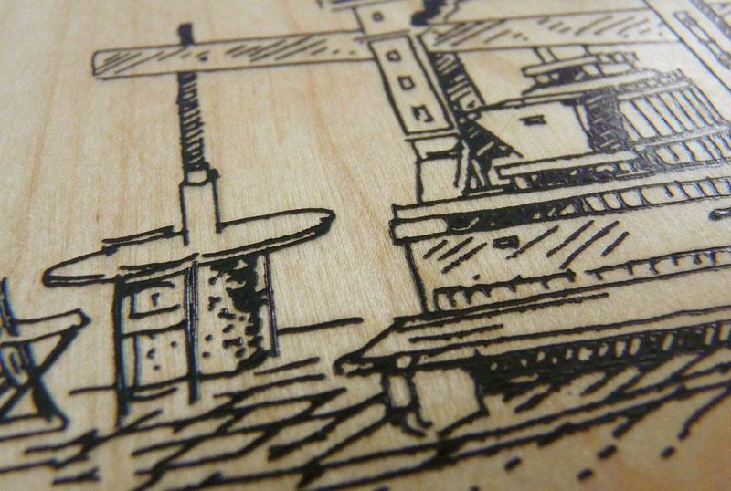 Heißfolienprägung (Holz)