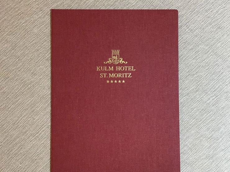 Hardcovermappe - Leinen mit Goldprägung